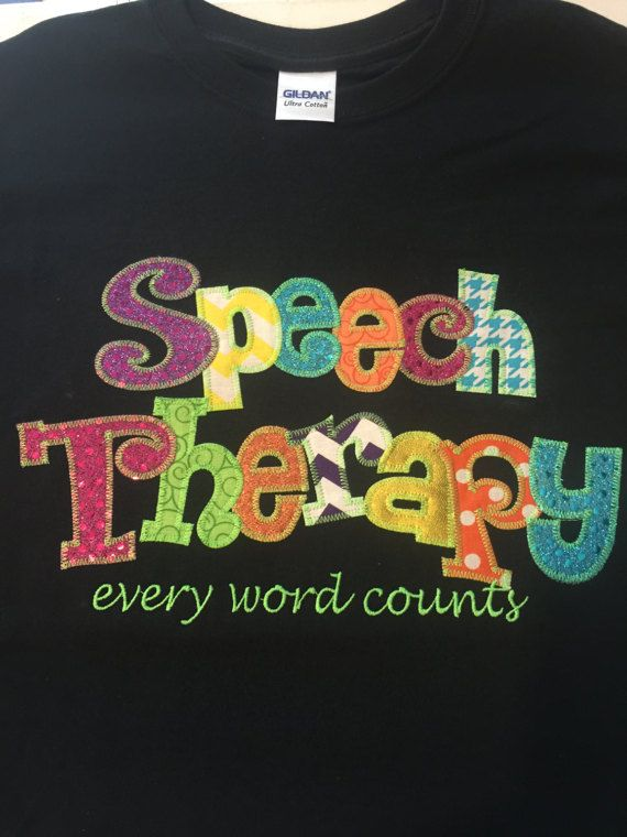 Speech Therapy  Applique Blingy T-Shirt
