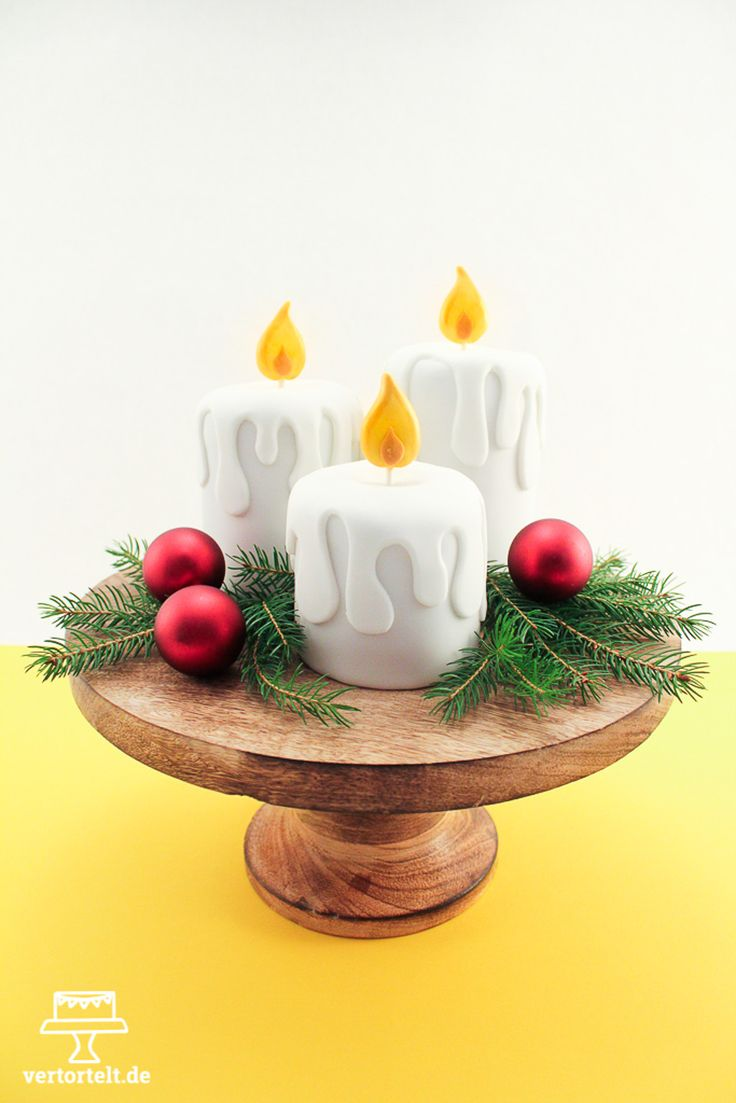 Adventskerzen aus Kuchen - cake candels