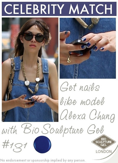 Get nails like model Alexa Chung with Bio Sculpture Gel