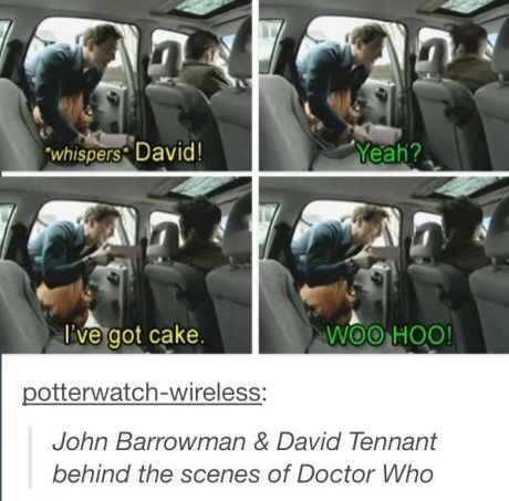John Barrowman And David Tennant Behind The Scenes Of Doctor Who