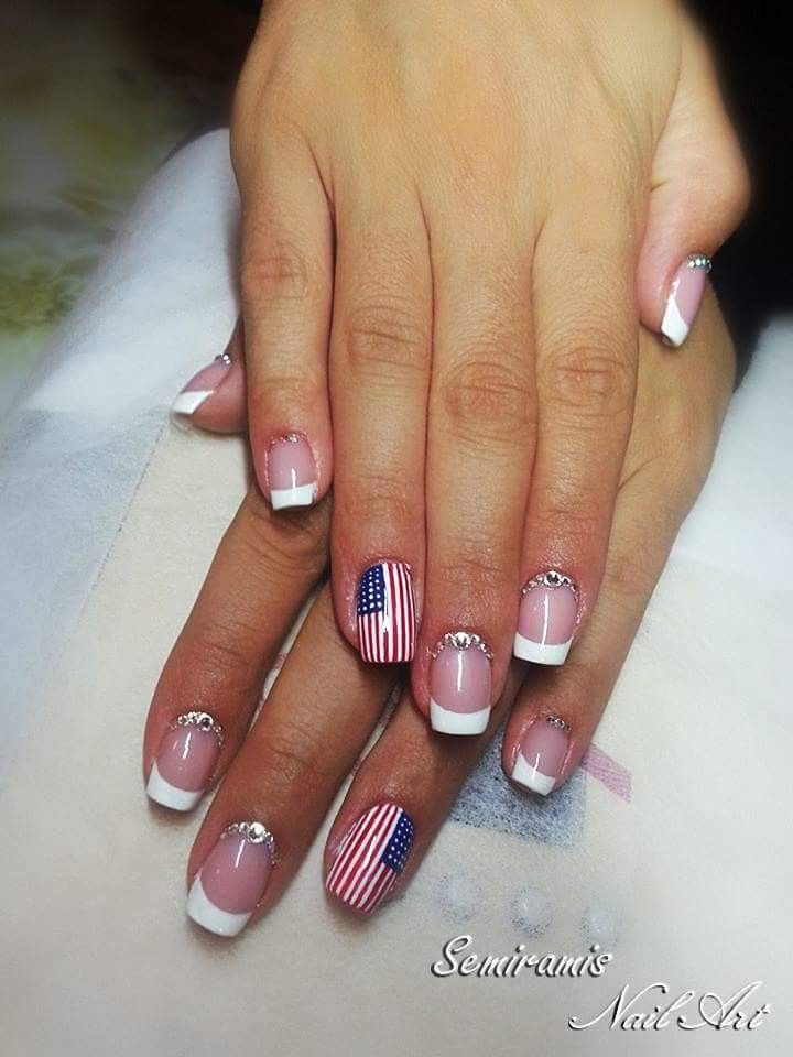 French nails - love with the USA :)