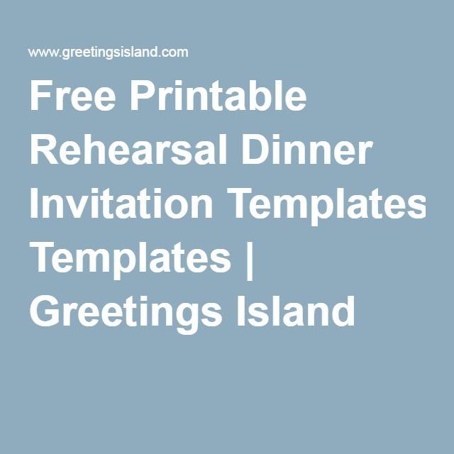 Free Printable Rehearsal Dinner Invitation Templates ...