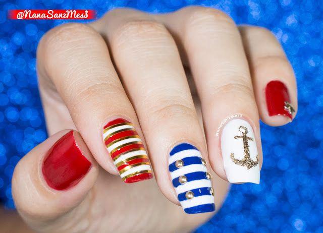 Sailor nails! - Swatching by @nanasanzmes3