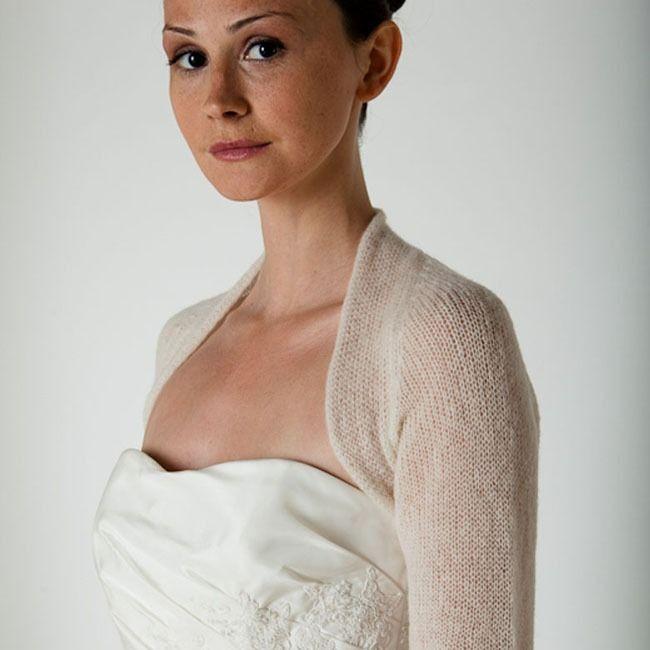 Cashmere Jacket Ivory Brautjacke Braut Hochzeit Bolero