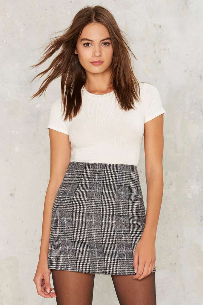 3672579163 Motel Diaz Plaid Skirt - Clothes | Pencil | Apparel in 2019 | Casual skirts,  Skirt outfits, Plaid mini skirt