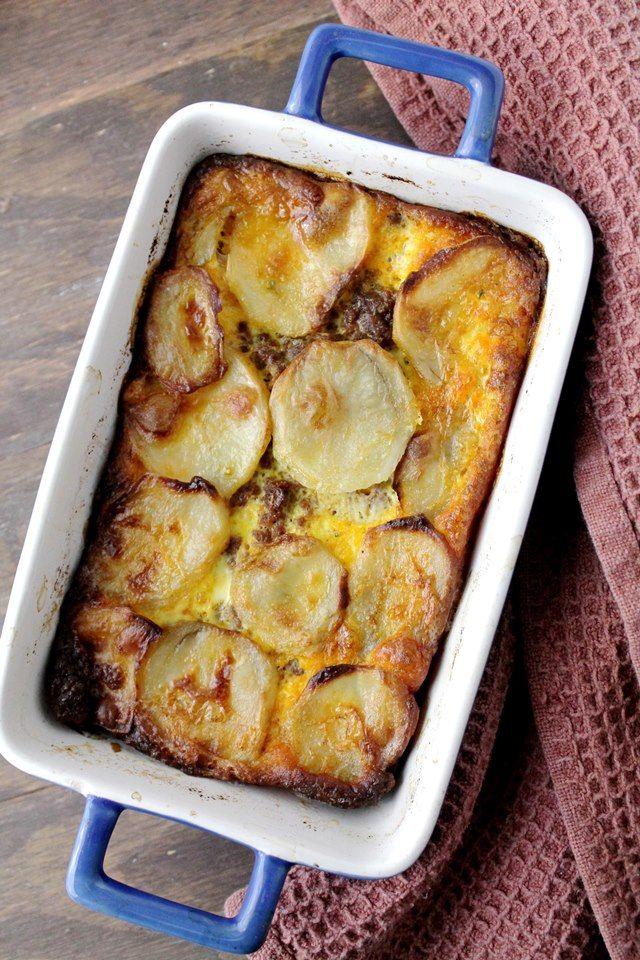 Savory Sundays: Meat and Potato Gratin {Traditional Macedonian Moussaka}