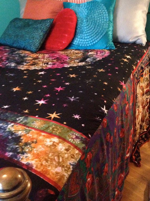 Gypsy Boho Bedspread Zodiac Bedding Blanket by ohMYcharley on Etsy, $140.00