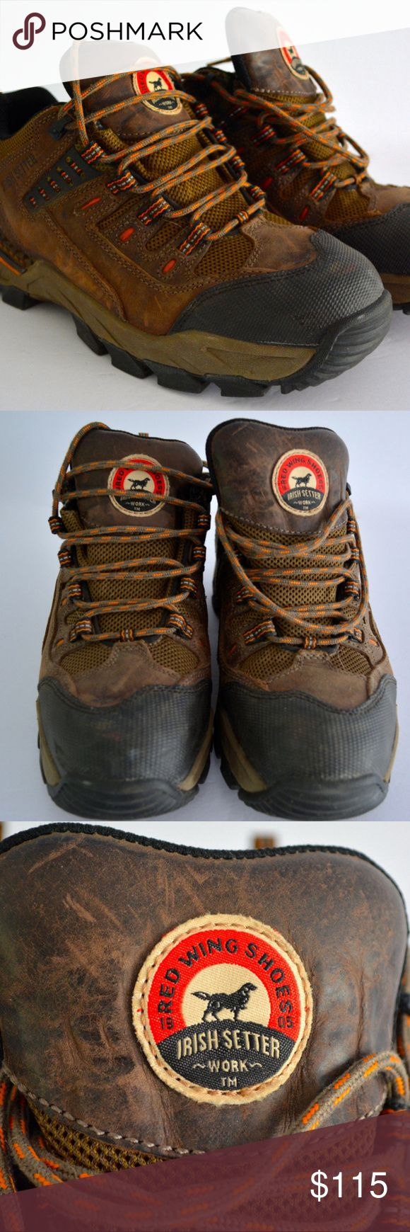 "RED WING Irish Setter HIKING SHOES Boots Size 8 Red Wing Irish Setter Work Boot Shoes Safety Aluminum Toe, Lace Up Mens Size 8, ""Two Harbors"" Style #83102   Very good gently pre-owned condition. Red Wing Shoes Shoes Boots"