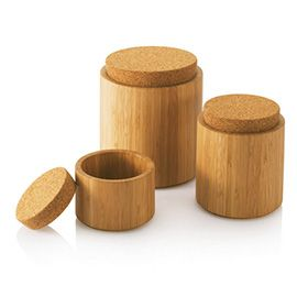Bamboo & Cork Canisters --okay those are just really really pretty.