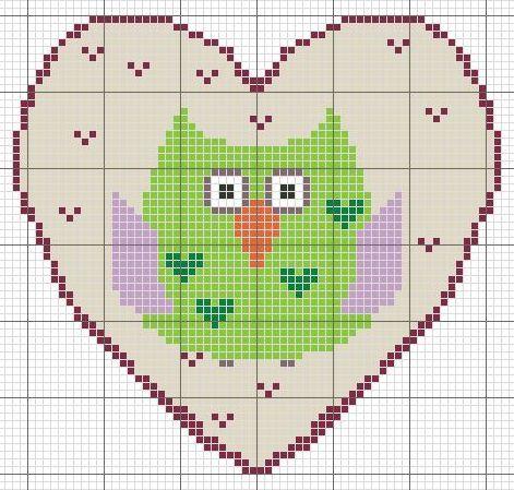 owl valentines patterns