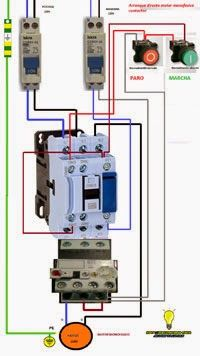 Arranque directo motor monofasico contactor