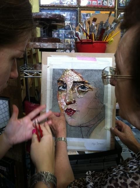 So that's how they do it...portrait mosaics.