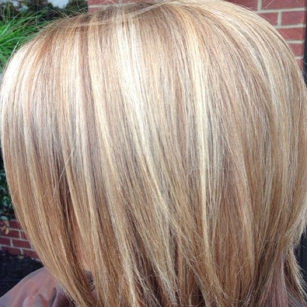 Blonde Highlights With Base Bump Highlights Basebump