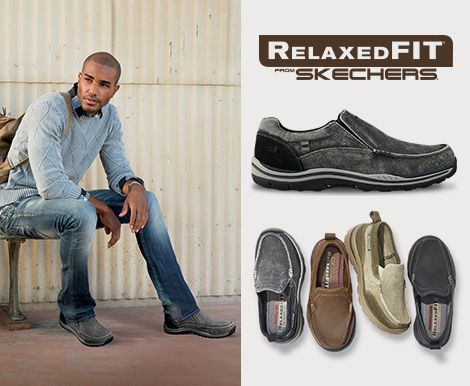 Relaxed Fit shoes by Skechers® for men.