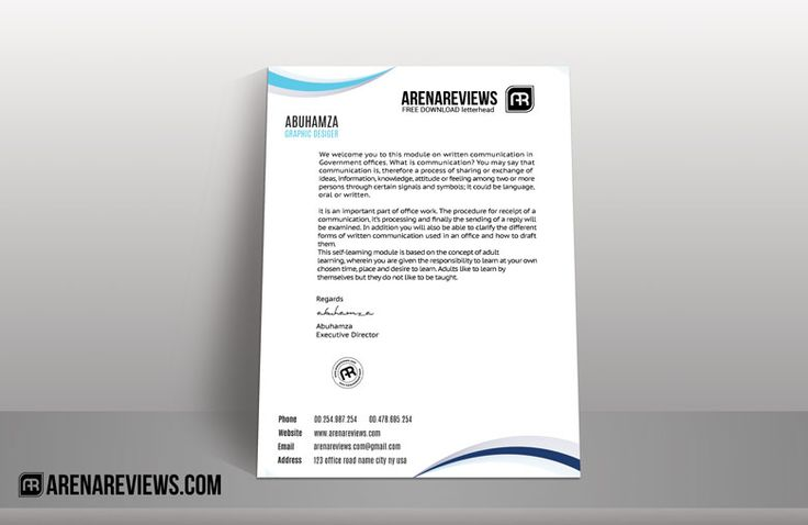 Letterheads are an essential component of your business communication. Use this classic letterhead template and flourish your business perspective.