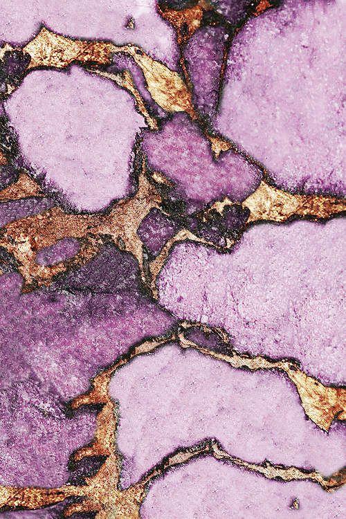 Gemstone And Gold - Pastel Lavender Canvas Ar... | Monika Strigel in 2020 | Gold wallpaper ...