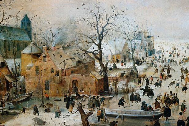 dutch windmill paintings | dutch painting in the 17th century detail of painting winter