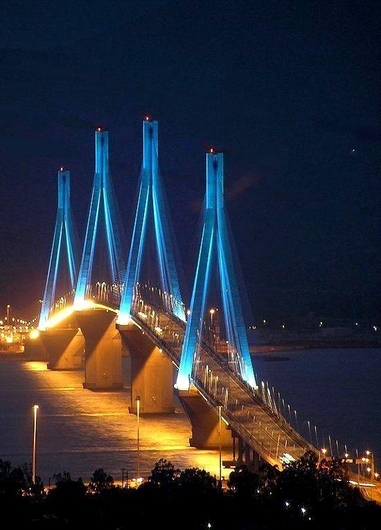 Spactacular night view of Rio - Antirio bridge, Greece | by ari80