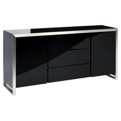 The contrasting edging on this sideboard makes it a statement piece, while the handle-free doors give it a minimalistic feel. The different storage options supplied by the drawers and cupboards means it's as versatile as it is stylish.