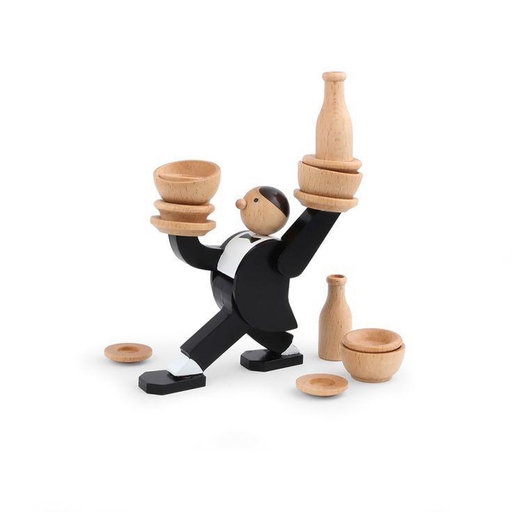 Kikkerland Stapel-Spiel - Don't tip the waiter