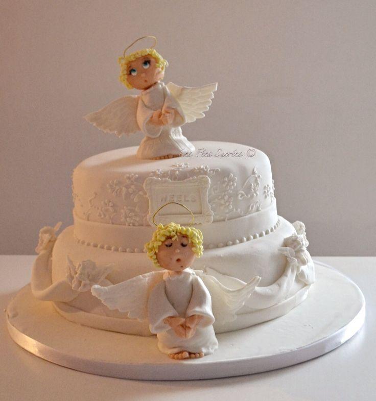g teau bapt me ange angel cake g teaux 3 d g teaux d. Black Bedroom Furniture Sets. Home Design Ideas