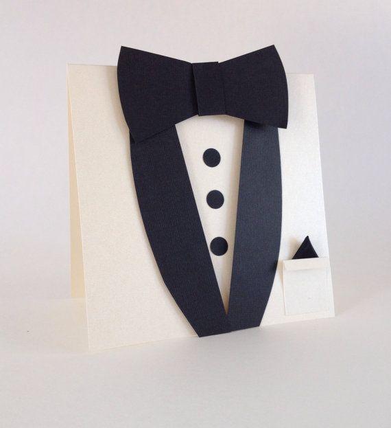 Classic. Ivory suit and tie card. Best Man Groomsmen by CallMeCraftie, $6.00