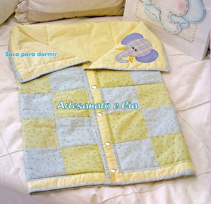Artesanato e Cia : Saco de dormir para bebê