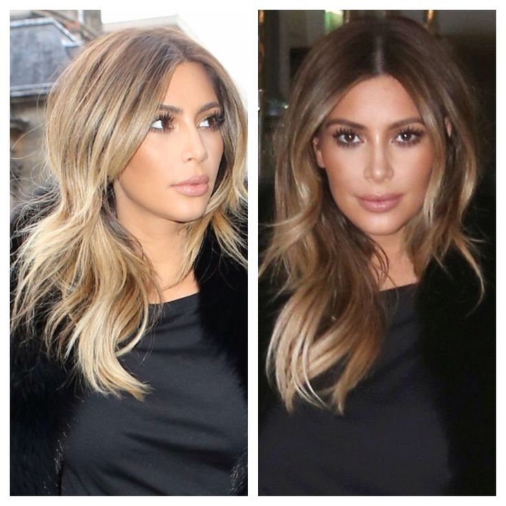 Kim Kardashian: the rooted buttery blonde. Love this color