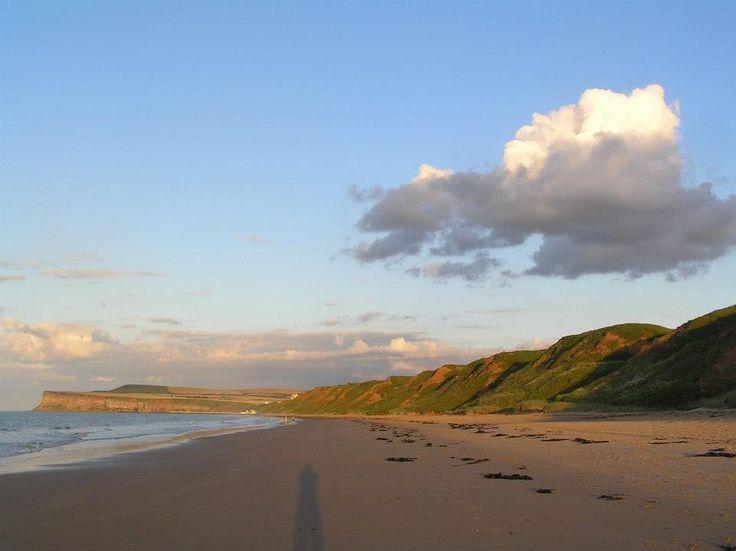 The  beach, Marske by the Sea looking towards Saltburn