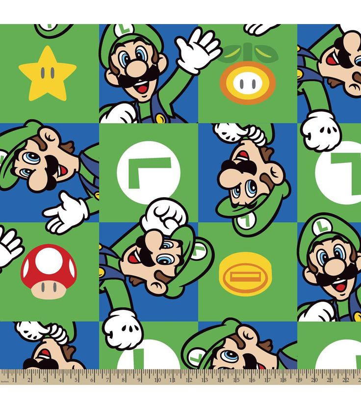 Nintendo 174 Super Mario Brothers Luigi Hands Up Fleece