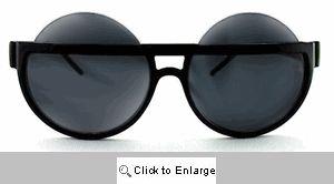 Rolo Big Round Half-Rim Sunglasses - 590 Black
