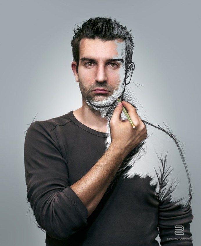 Beste Zeichnungs-Porträt-Skizzen-Leben-Inspirationsbilder auf Designspiration