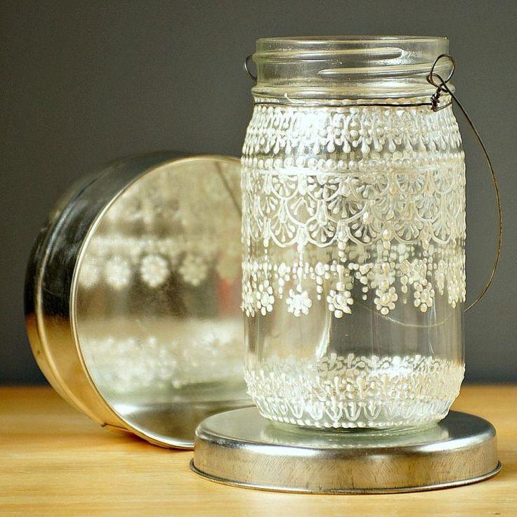 comment fabriquer une lanterne extérieure filigrane en pot en verre