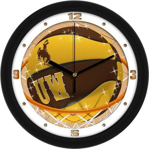 University of Wyoming Cowboys Basketball Wall Clock