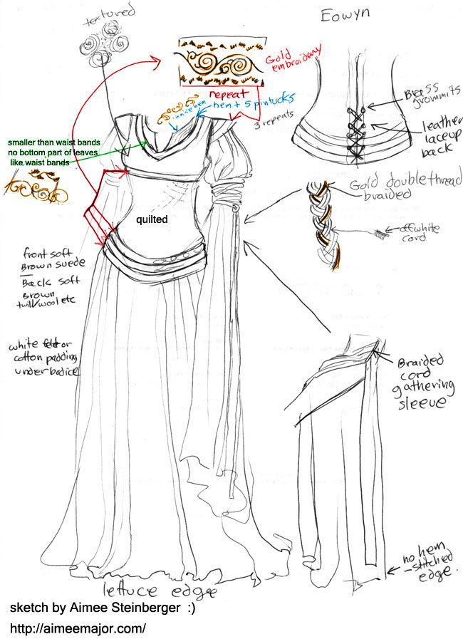 The Costumer's Guide to Movie Costumes: Eowyn I loved the Costumers Guide when I was younger... now time to make something!