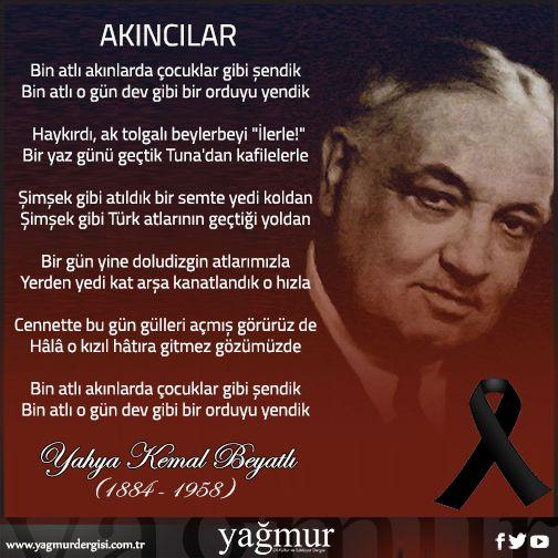 Yahya Kemal Beyatlı Beyefendi'yi saygıyla anıyoruz…  #yahyakemalbeyatlı…