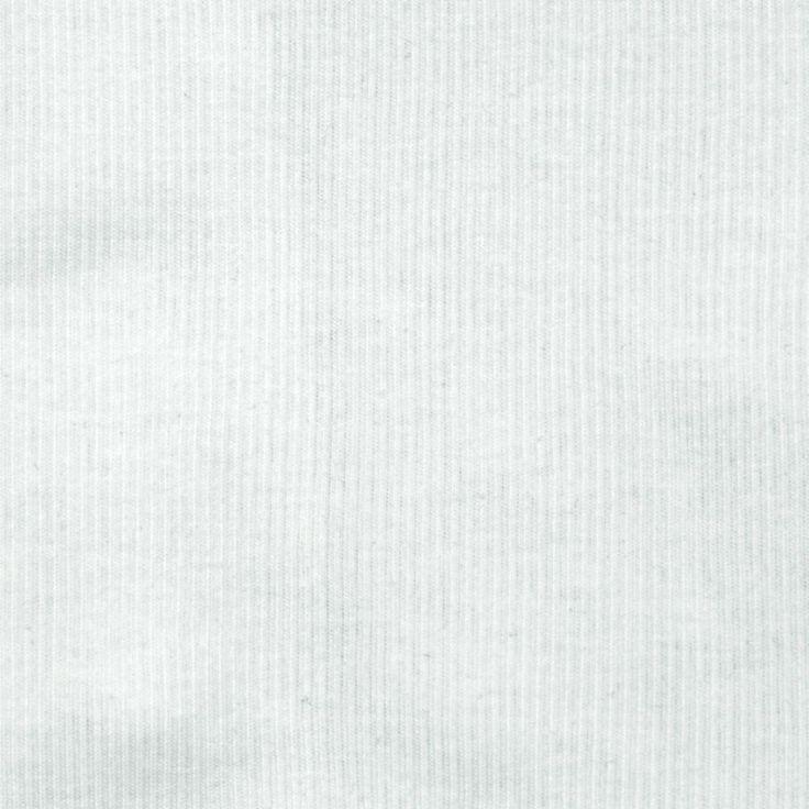 "Cotton Rib Knit White   100% Cotton   Lightweight   Width: 60""   50% stretch across grain   For undershirt/top"