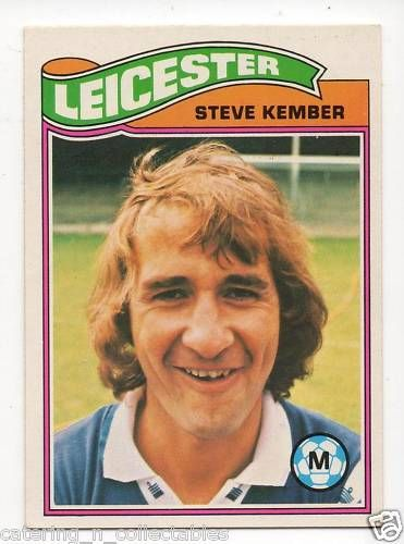 TO-#109 Steve Kember Leicester - 1970s football card