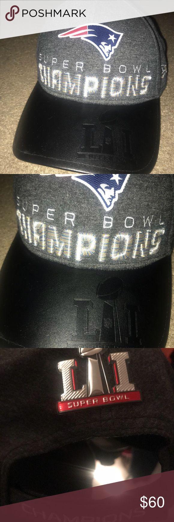 SALE! PATRIOTS SUPERBOWL LI CHAMPIONSHIP HAT Never worn! Adjustable strap! Go pats!!! 🏈 Champion Accessories Hats