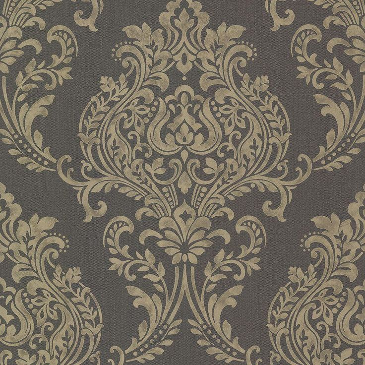 8 in. W x 10 in. H Diane Charcoal (Grey) Texture Wallpaper Sample