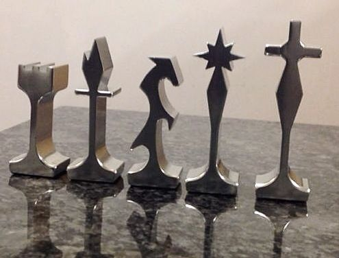 projects ideas metal chess pieces. MCM aluminum chess pieces 189 best Chess sets images on Pinterest  games