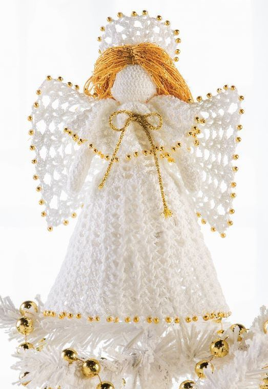 833 best virkade änglar images on Pinterest | Crochet angels ...