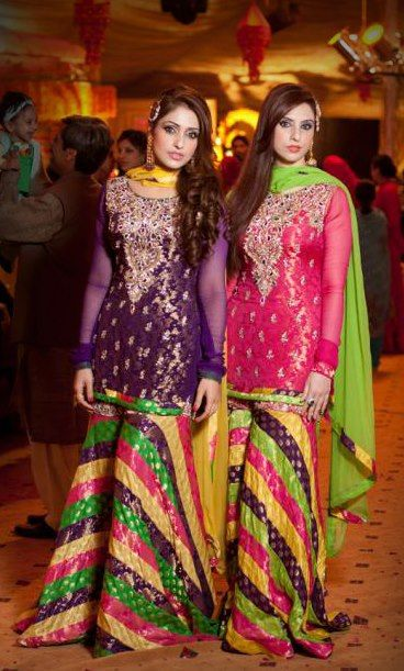 Mehndi Outfits For Guests : Ideas about mehndi dress on pinterest pakistani