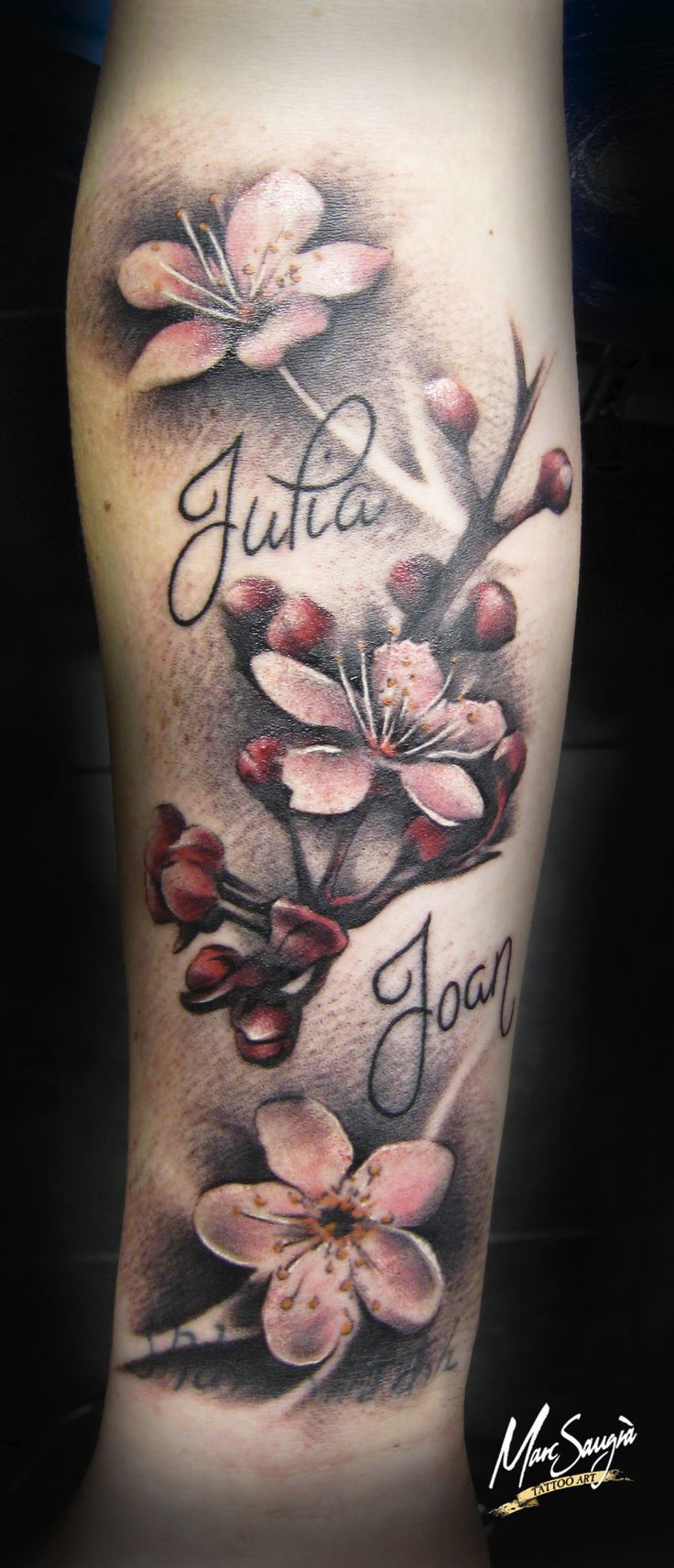 Cherry Flower Tattoo Flors De Cirerer Tatuatge Flor De Cerezo Tattoos Sleeve Tattoos Tattoos