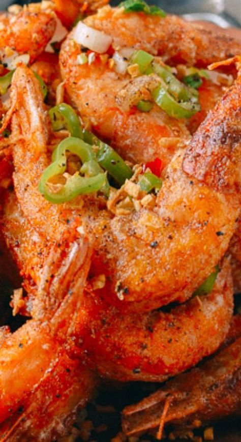 Salt and Pepper Shrimp. A great appetizer filled with rich flavor and complex texture.