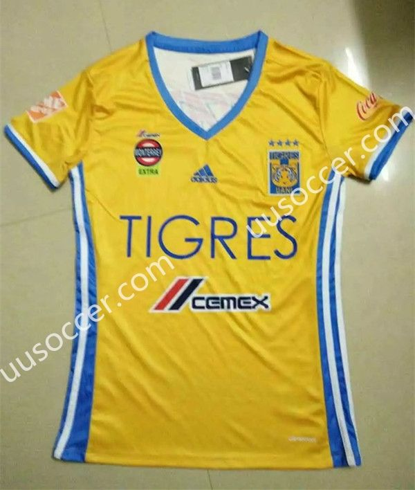 2016-17 Tigres UANL Home Yellow Female Thailand Soccer Jersey AAA