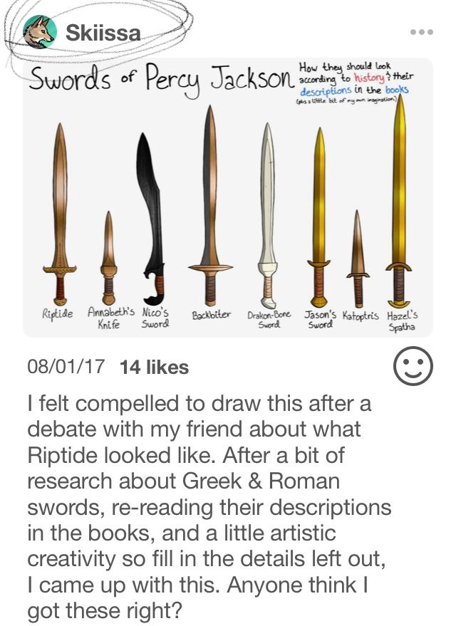 Yes!!!! I like these. Not only are these historically accurate, but they also match the book descriptions well. Finally, someone who did these blades justice and didn't just draw them as a typical longsword or claymore!