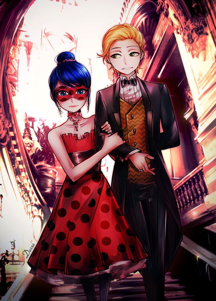 Ladrien - going to the gala (by Dessa-nya) (Miraculous Ladybug)