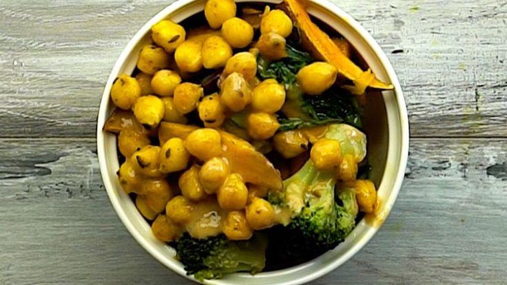 Gesunde Schale mit Süßkartoffeln