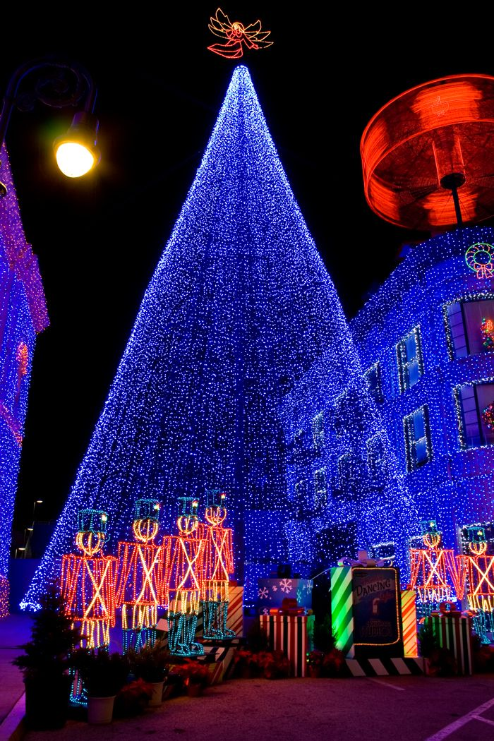 The Osborne Family Spectacle of Dancing Lights at Disney's Hollywood Studios at the Walt Disney World Resort near Orlando, Florida